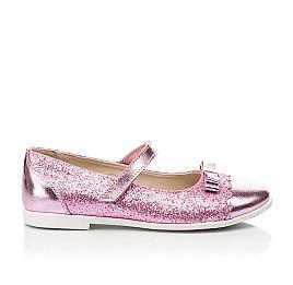 Детские туфли Woopy Fashion розовые для девочек натуральная кожа, искусственный материал  размер 28-36 (7230) Фото 4