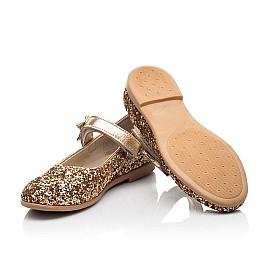 Детские туфли праздничные Woopy Fashion золотые для девочек современный искусственный материал размер 28-36 (7231) Фото 2