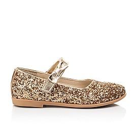 Детские туфли праздничные Woopy Fashion золотые для девочек современный искусственный материал размер 28-36 (7231) Фото 4