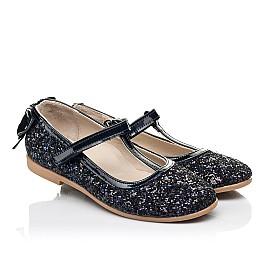 Детские туфли праздничные Woopy Fashion темно-синие для девочек современный искусственный материал размер 26-37 (7232) Фото 1