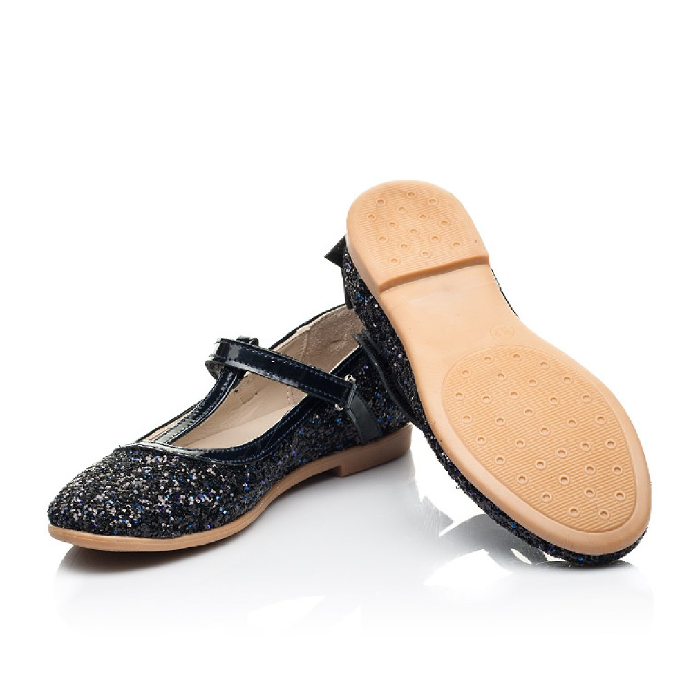 Детские туфли праздничные Woopy Fashion темно-синие для девочек современный искусственный материал размер 26-37 (7232) Фото 2
