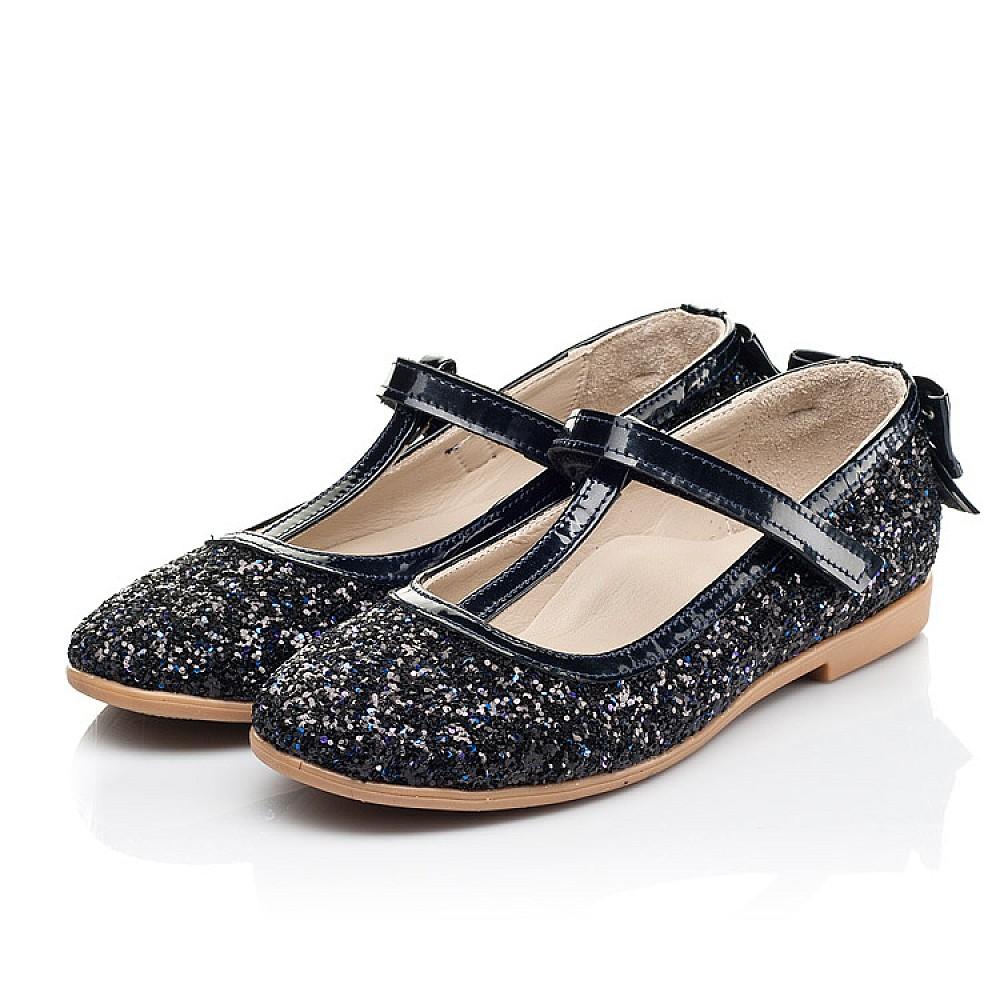 Детские туфли праздничные Woopy Fashion темно-синие для девочек современный искусственный материал размер 26-37 (7232) Фото 3