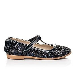 Детские туфли праздничные Woopy Fashion темно-синие для девочек современный искусственный материал размер 26-37 (7232) Фото 4