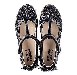 Детские туфли праздничные Woopy Fashion темно-синие для девочек современный искусственный материал размер 26-37 (7232) Фото 5