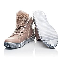 Детские зимние ботинки на меху Woopy Fashion бежевый для девочек натуральная кожа размер 28-37 (7233) Фото 3