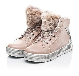 Детские зимние ботинки на меху Woopy Fashion бежевый для девочек натуральная кожа размер 28-37 (7233) Фото 4