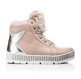 Детские зимние ботинки на меху Woopy Fashion бежевый для девочек натуральная кожа размер 28-37 (7233) Фото 5