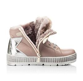Детские зимние ботинки на меху Woopy Fashion бежевый для девочек натуральная кожа размер 28-37 (7233) Фото 6