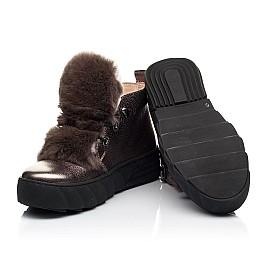 Детские зимние ботинки на меху Woopy Fashion серебряные для девочек натуральная кожа размер 35-40 (7234) Фото 2