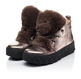 Детские зимние ботинки на меху Woopy Fashion серебряные для девочек натуральная кожа размер 35-40 (7234) Фото 3