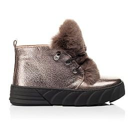 Детские зимние ботинки на меху Woopy Fashion серебряные для девочек натуральная кожа размер 35-40 (7234) Фото 4
