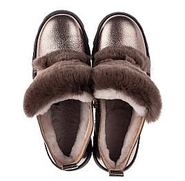 Детские зимние ботинки на меху Woopy Fashion серебряные для девочек натуральная кожа размер 35-40 (7234) Фото 5