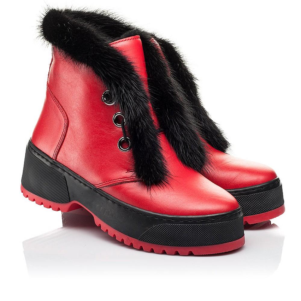 Детские зимние ботинки на шерсти Woopy Fashion красные для девочек натуральная кожа размер 33-39 (7235) Фото 1