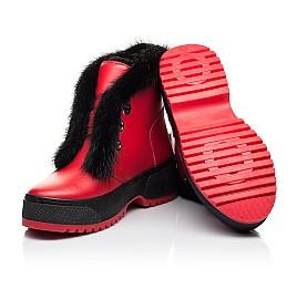 Детские зимние ботинки на шерсти Woopy Fashion красные для девочек натуральная кожа размер 33-39 (7235) Фото 2