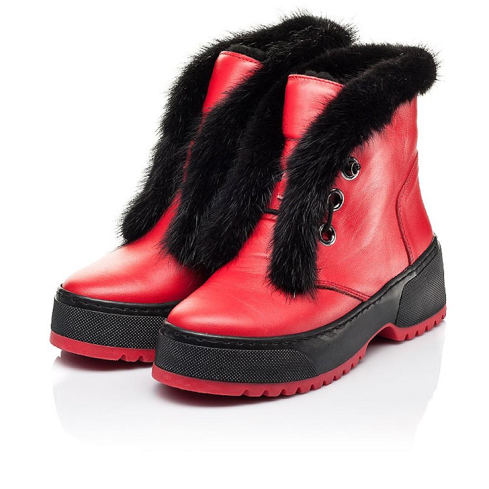 Детские зимние ботинки на шерсти Woopy Fashion красные для девочек натуральная кожа размер 33-39 (7235) Фото 3