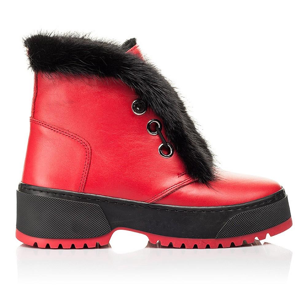 Детские зимние ботинки на шерсти Woopy Fashion красные для девочек натуральная кожа размер 33-39 (7235) Фото 4