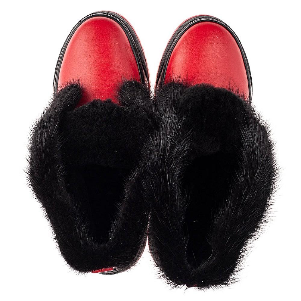 Детские зимние ботинки на шерсти Woopy Fashion красные для девочек натуральная кожа размер 33-39 (7235) Фото 5
