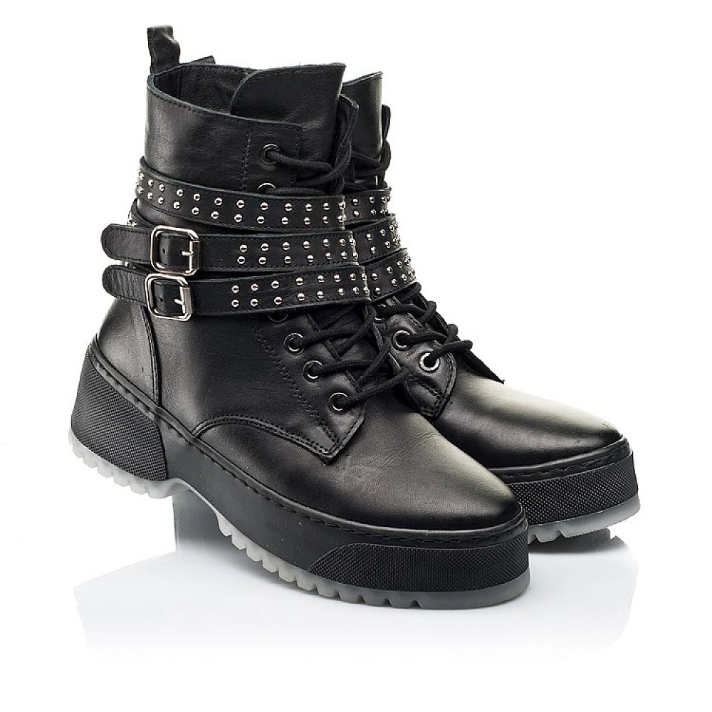 Детские зимние ботинки на шерсти Woopy Fashion черные для девочек натуральная кожа размер 35-40 (7236) Фото 1