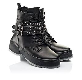 Детские зимние ботинки на шерсти Woopy Fashion черные для девочек натуральная кожа размер 36-40 (7236) Фото 1