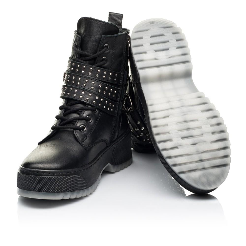 Детские зимние ботинки на шерсти Woopy Fashion черные для девочек натуральная кожа размер 35-40 (7236) Фото 2