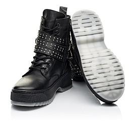 Детские зимние ботинки на шерсти Woopy Fashion черные для девочек натуральная кожа размер 36-40 (7236) Фото 2