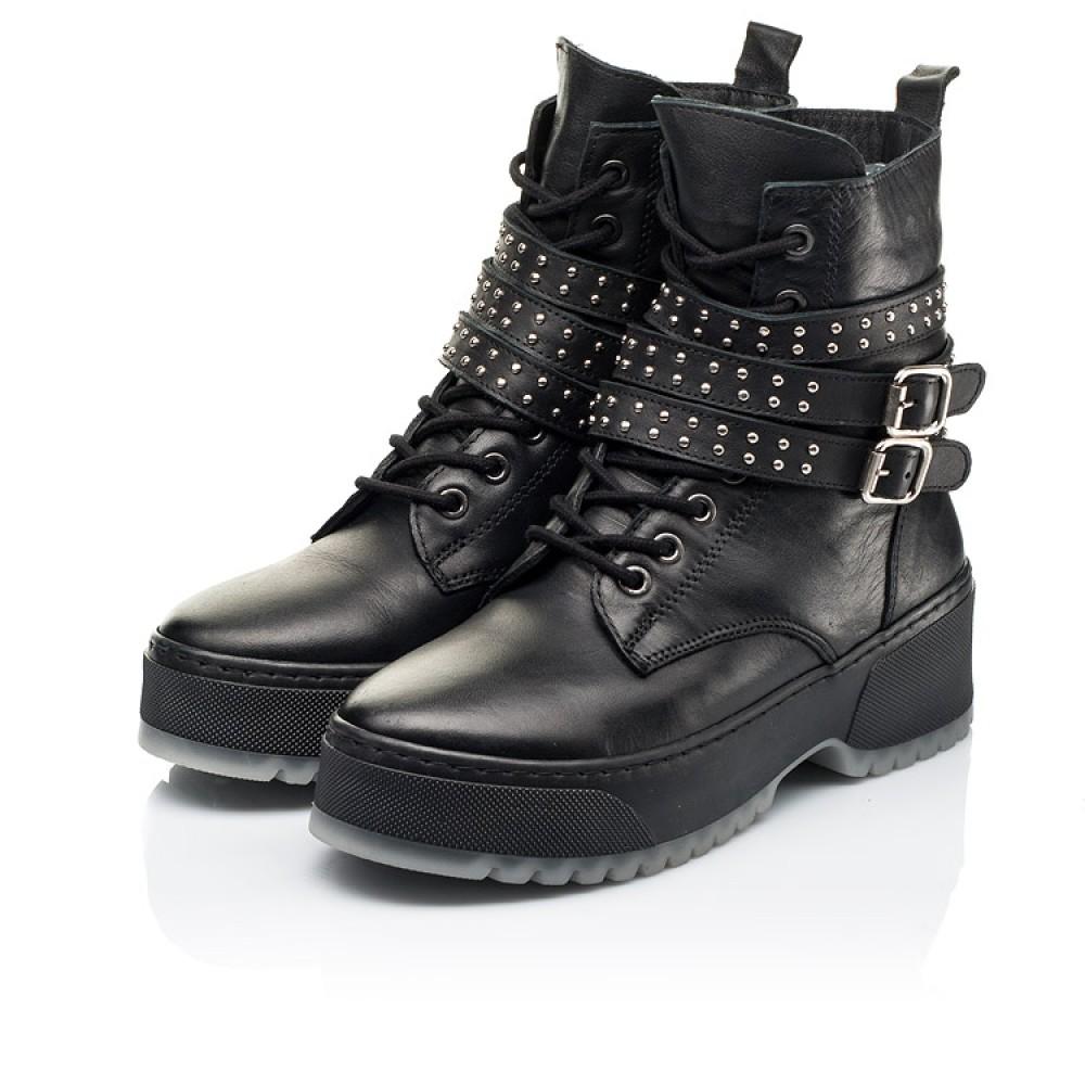 Детские зимние ботинки на шерсти Woopy Fashion черные для девочек натуральная кожа размер 35-40 (7236) Фото 3
