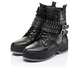 Детские зимние ботинки на шерсти Woopy Fashion черные для девочек натуральная кожа размер 36-40 (7236) Фото 3
