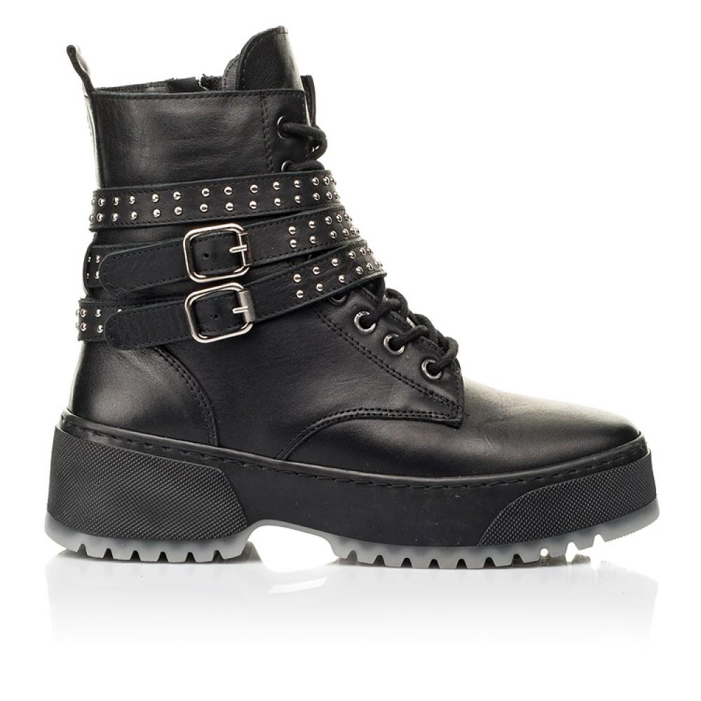 Детские зимние ботинки на шерсти Woopy Fashion черные для девочек натуральная кожа размер 35-40 (7236) Фото 4