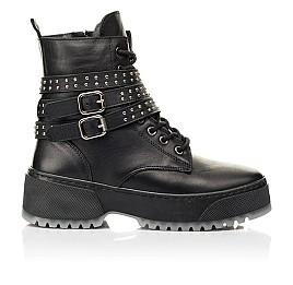 Детские зимние ботинки на шерсти Woopy Fashion черные для девочек натуральная кожа размер 36-40 (7236) Фото 4
