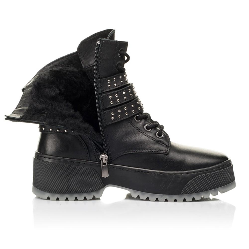 Детские зимние ботинки на шерсти Woopy Fashion черные для девочек натуральная кожа размер 35-40 (7236) Фото 5
