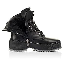 Детские зимние ботинки на шерсти Woopy Fashion черные для девочек натуральная кожа размер 36-40 (7236) Фото 5