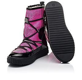 Детские зимние сапоги на меху Woopy Fashion розовые для девочек натуральная лаковая кожа размер 29-38 (7237) Фото 2