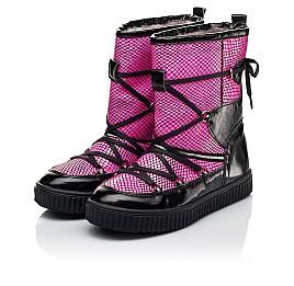 Детские зимние сапоги на меху Woopy Fashion розовые для девочек натуральная лаковая кожа размер 29-38 (7237) Фото 3