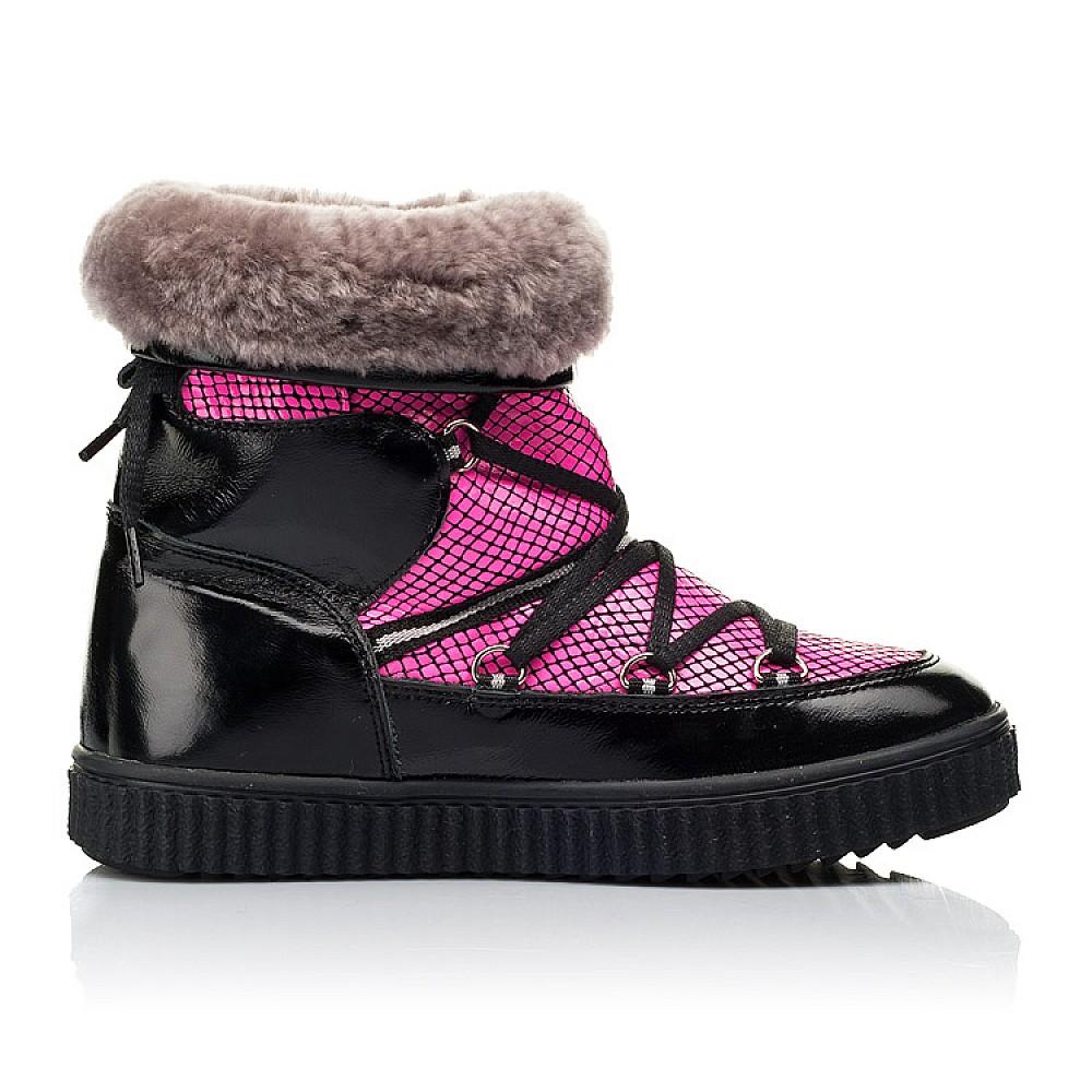 Детские зимние сапоги на меху Woopy Fashion розовые для девочек натуральная лаковая кожа размер 29-38 (7237) Фото 5