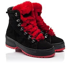 Детские зимние ботинки на шерсти Woopy Fashion черные для девочек натуральная замша размер 33-39 (7238) Фото 1