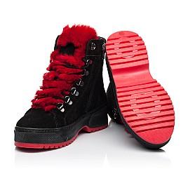 Детские зимние ботинки на шерсти Woopy Fashion черные для девочек натуральная замша размер 33-39 (7238) Фото 2