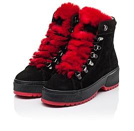 Детские зимние ботинки на шерсти Woopy Fashion черные для девочек натуральная замша размер 33-39 (7238) Фото 3