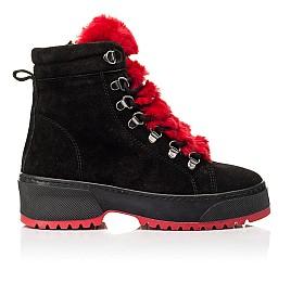 Детские зимние ботинки на шерсти Woopy Fashion черные для девочек натуральная замша размер 33-39 (7238) Фото 4