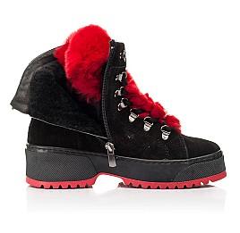 Детские зимние ботинки на шерсти Woopy Fashion черные для девочек натуральная замша размер 33-39 (7238) Фото 5