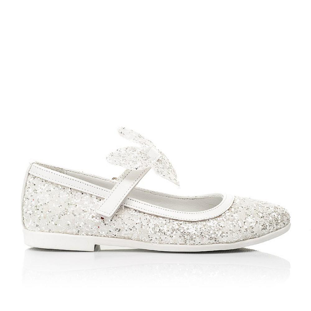 Детские туфли Woopy Fashion белые для девочек современный искусственный материал размер 26-37 (7239) Фото 4