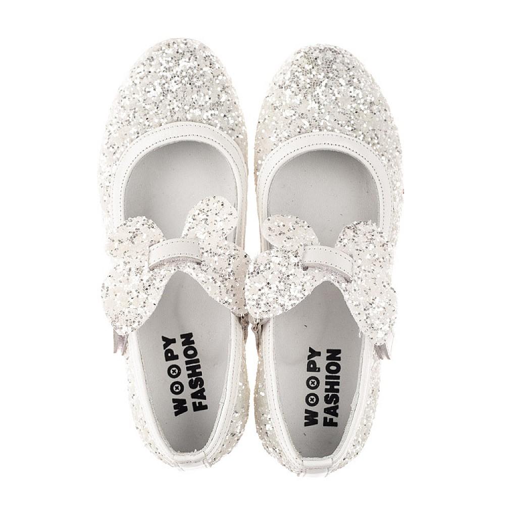 Детские туфли Woopy Fashion белые для девочек современный искусственный материал размер 26-37 (7239) Фото 5