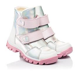 Детские ботинки еврозима Woopy Fashion серебряные для девочек натуральная кожа размер 21-33 (7241) Фото 1