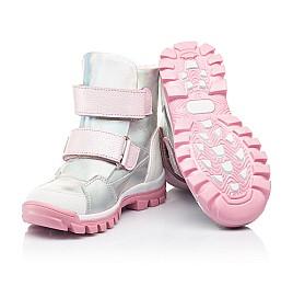 Детские ботинки еврозима Woopy Fashion серебряные для девочек натуральная кожа размер 21-33 (7241) Фото 2
