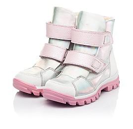 Детские ботинки еврозима Woopy Fashion серебряные для девочек натуральная кожа размер 21-33 (7241) Фото 3