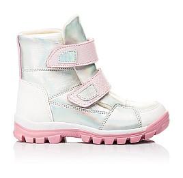 Детские ботинки еврозима Woopy Fashion серебряные для девочек натуральная кожа размер 21-33 (7241) Фото 4