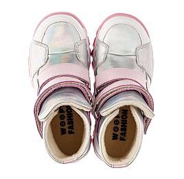 Детские ботинки еврозима Woopy Fashion серебряные для девочек натуральная кожа размер 21-33 (7241) Фото 5