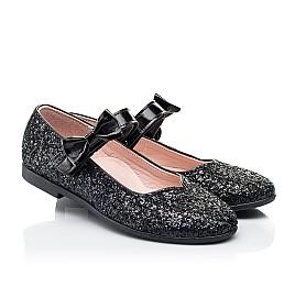 Детские туфли Woopy Fashion черные для девочек современный искусственный материал размер 28-36 (7242) Фото 1