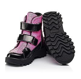 Детские ботинки еврозима Woopy Fashion розовые для девочек натуральная лаковая кожа размер 22-31 (7243) Фото 2