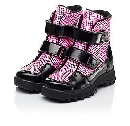 Детские ботинки еврозима Woopy Fashion розовые для девочек натуральная лаковая кожа размер 22-31 (7243) Фото 3