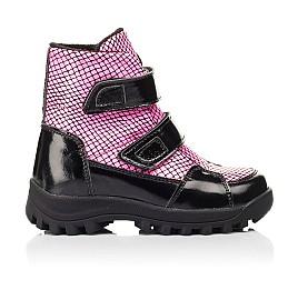 Детские ботинки еврозима Woopy Fashion розовые для девочек натуральная лаковая кожа размер 22-31 (7243) Фото 4